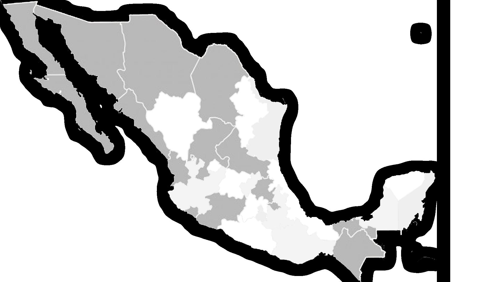 Mapa de méxico -red de distribución
