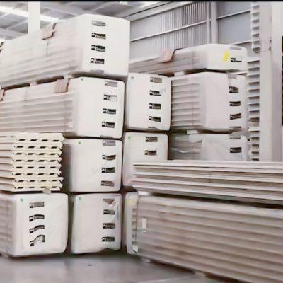 Bodega de panel de acero aislante